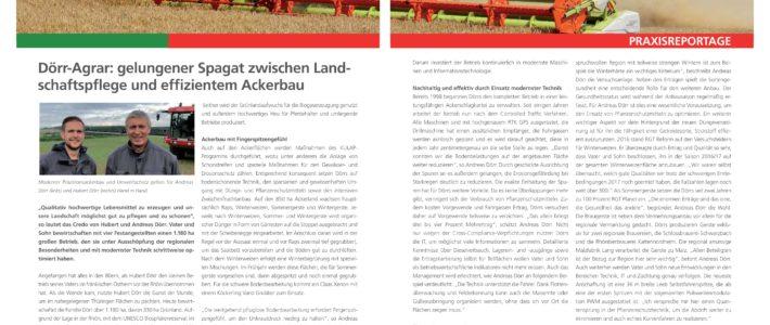 Artikel über Doerr-Agrar in der RAGT Zeitung